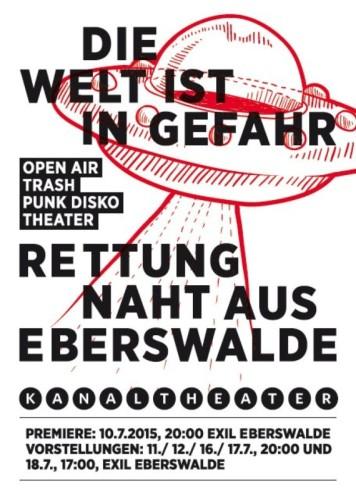 Flyer Kanaltheater Eberswalde 2015