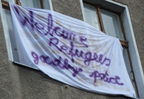 AnwohnerInnenprotest Blockade Ohlauer Strasse 02.07.2014