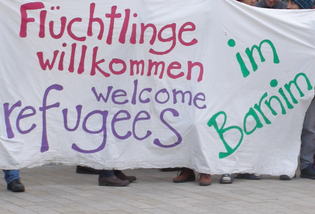 transpi refugees welcome barnim