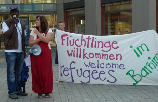 refugees welcome kundgebung in eberswalde