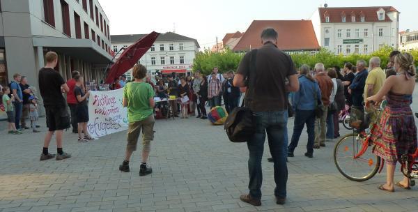 refugees welcome Kundgebung Eberswalde