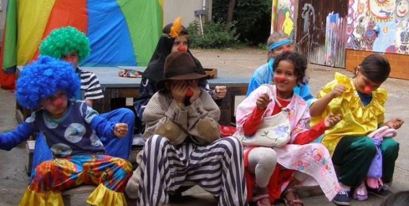 Clowns auf dem Wuckizucki-Zirkuscamp 2016