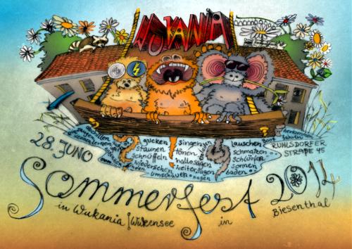 Einladung Wukania-Sommerfest 2014